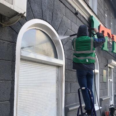 Мойка и чистка фасадов